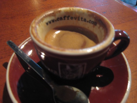 Served with a tiny cup, spoon, and saucer, this Macchiato was once almost as beautiful as my hazelnut latte from Victrola. However, I thought this marketing idea was pretty cool.