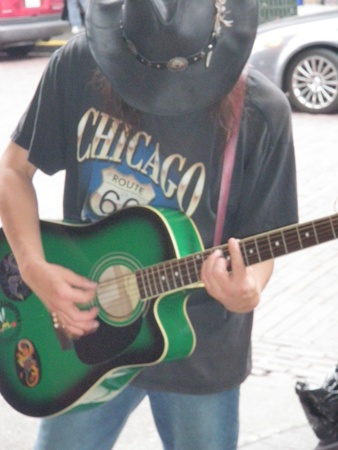Musician playing the Blues.