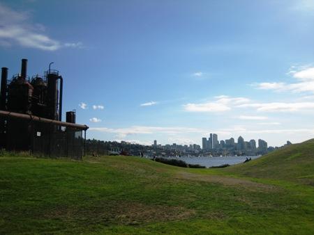 Gasworks-aged plant-skyline-lawn