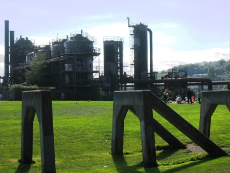 These aged remnants of an abandoned gas plant make Gasworks one of the most unique parks in the country.