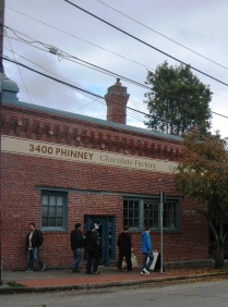 Theo's Chocolate Factory used to be the old Red Hook brewery.
