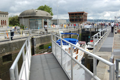 Seattle Dam Locks Open